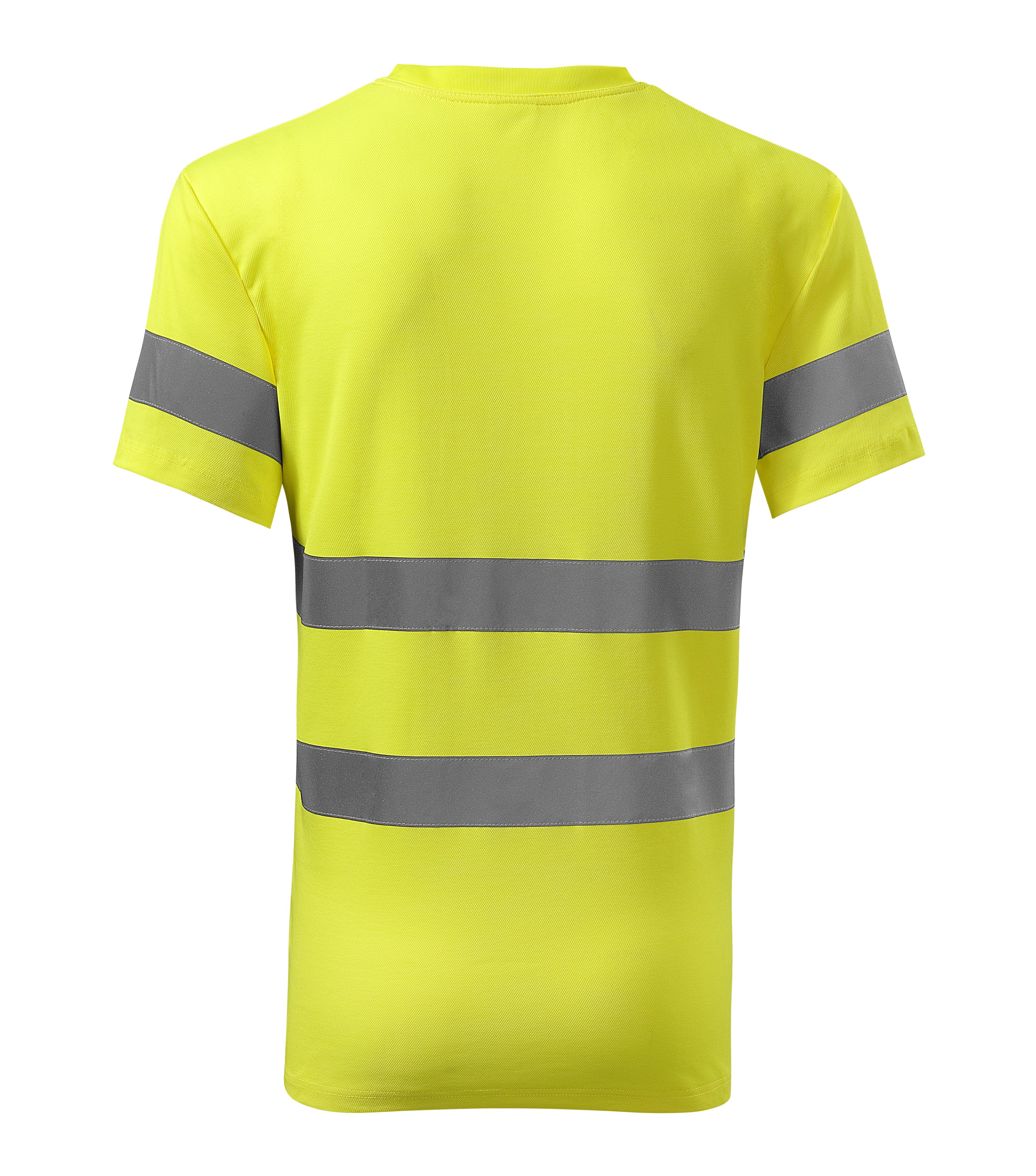 Żółta koszulka odblaskowa Protect - tył