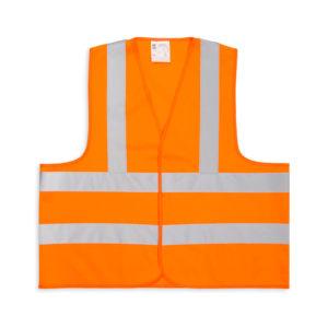 Pomarańczowa kamizelka odblaskowa dla dorosłych - 3 pasy - przód