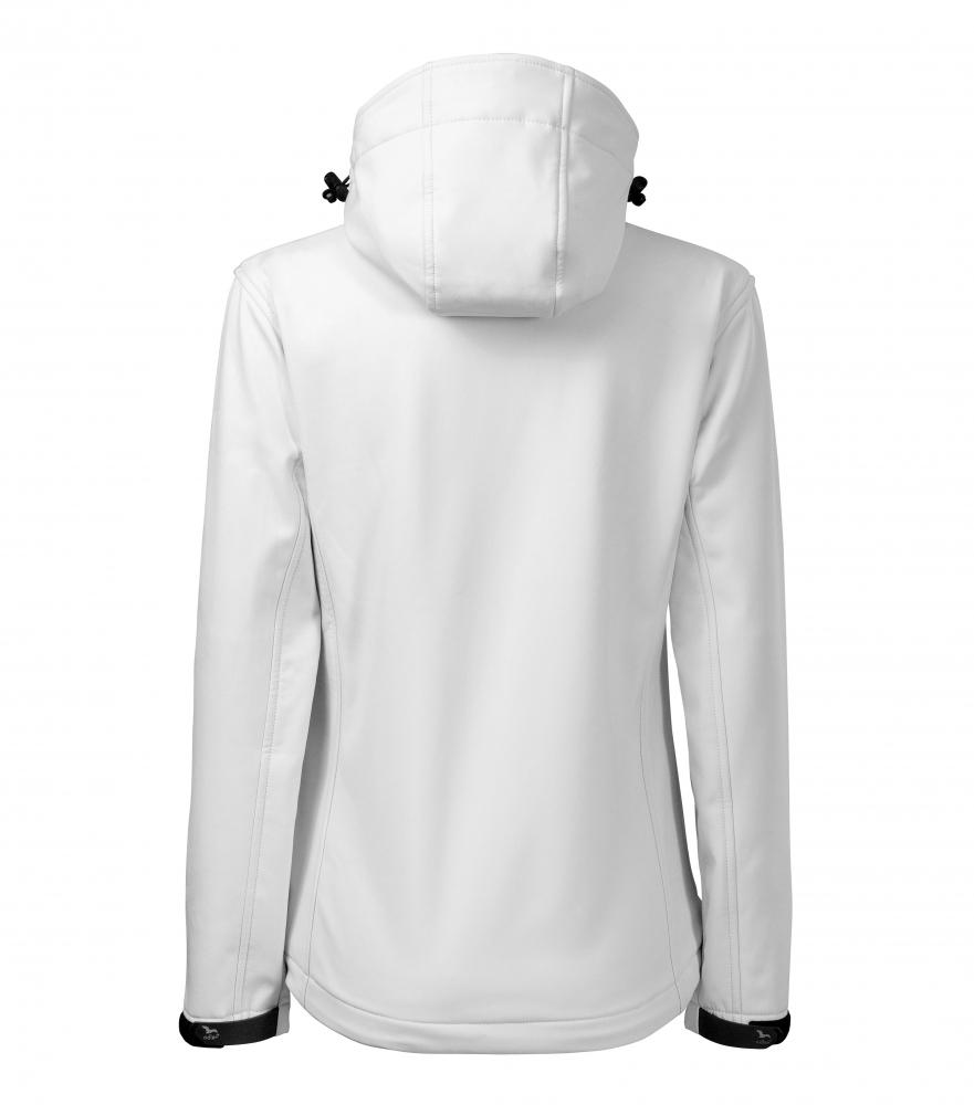 Biała kurtka softshell Performance damska - tył