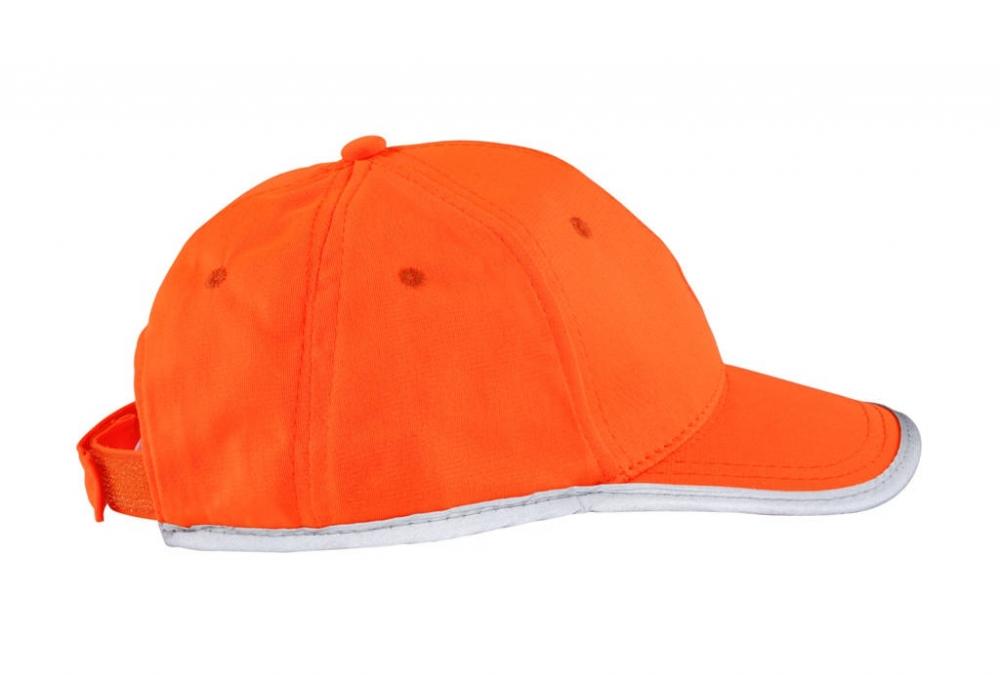 Pomarańczowa czapka odblaskowa dla dzieci - bok