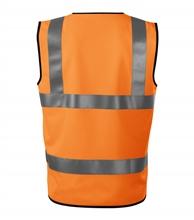 Pomarańczowa kamizelka odblaskowa 9V3 HV BRIGHT Unisex - tył