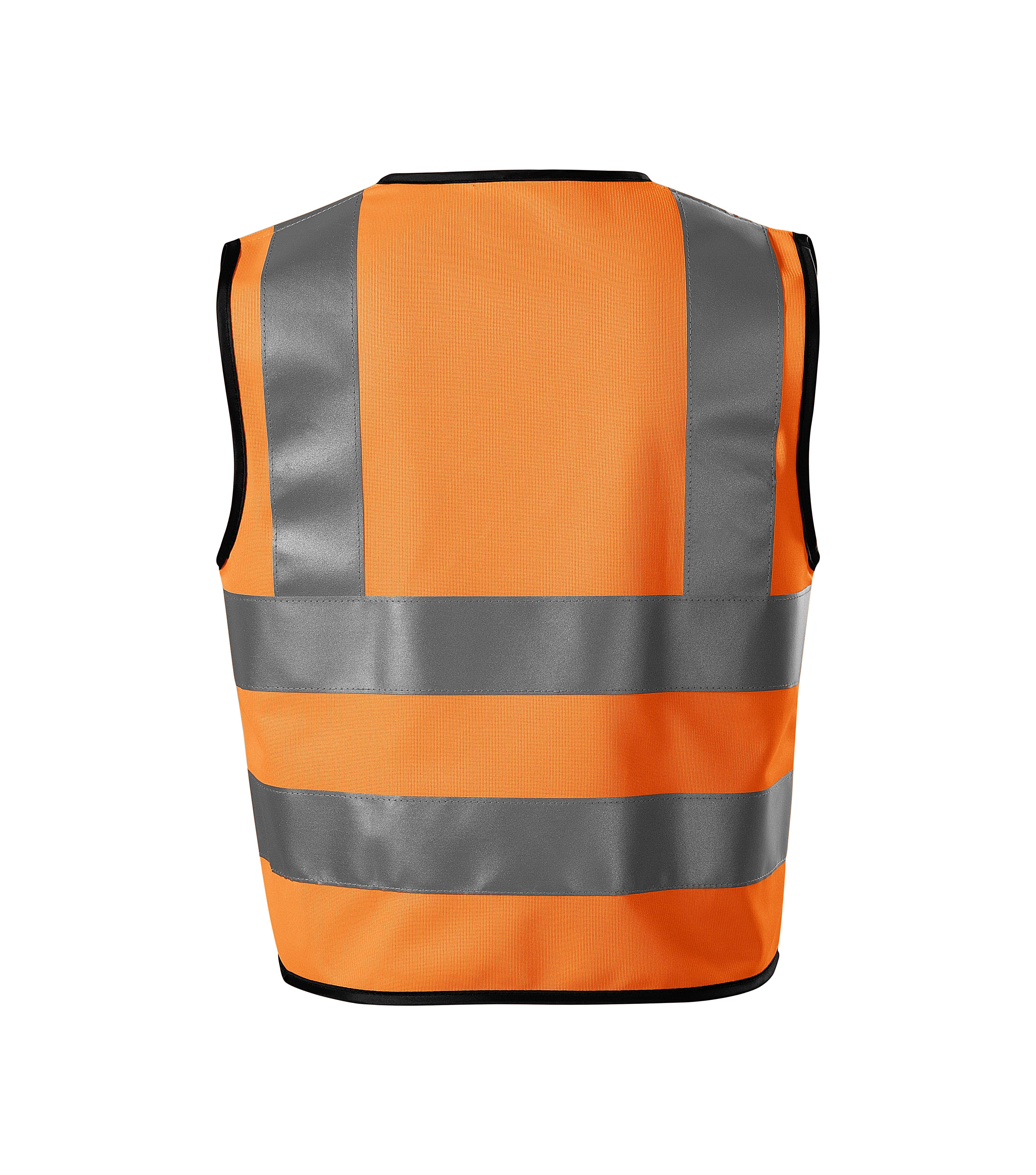 Pomarańczowa kamizelka odblaskowa dziecięca HV BRIGHT 9V4 - tył
