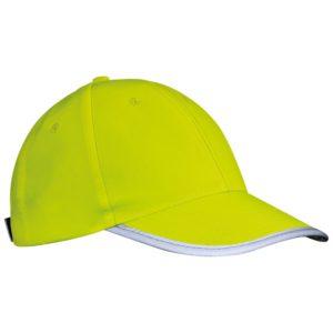 Żółta czapka odblaskowa dla dzieci