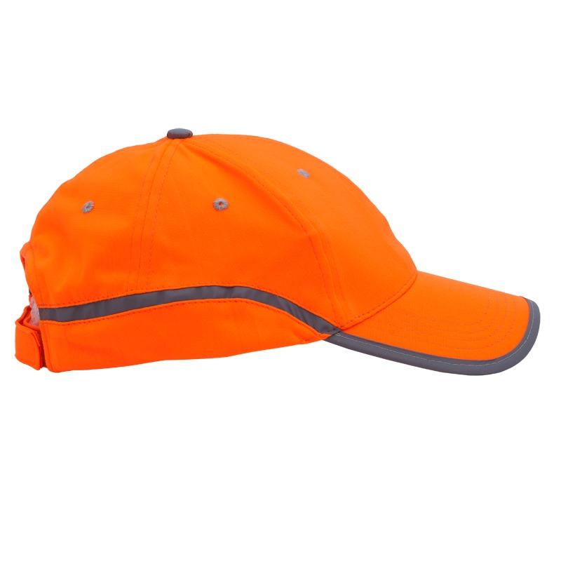 Pomarańczowa czapka odblaskowa dla dorosłych