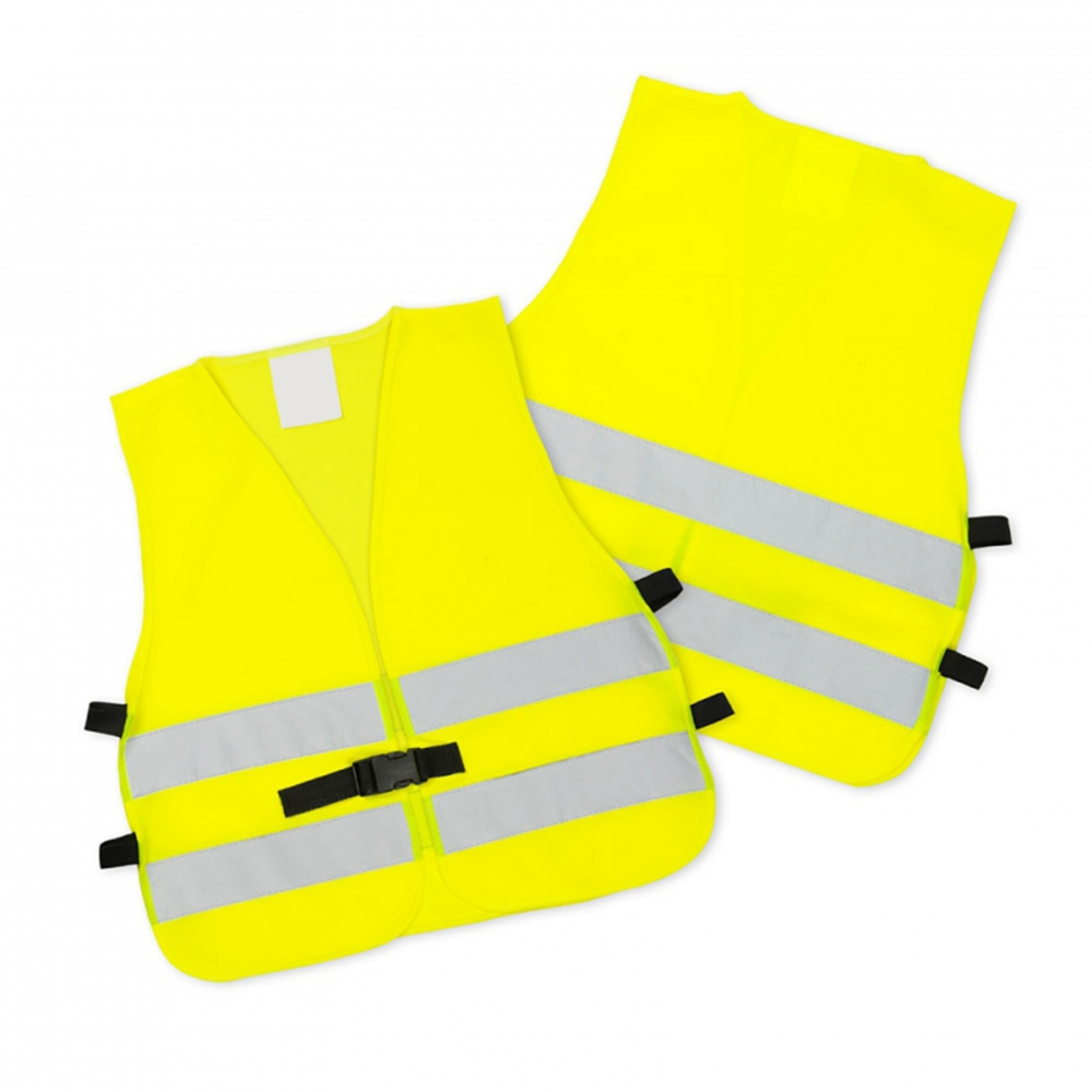 Żółte kamizelki odblaskowe z klipem UU204