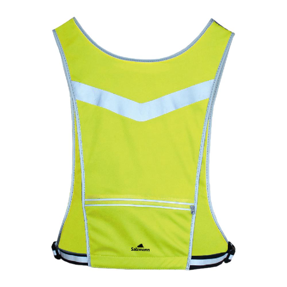 Żółta, sportowa, regulowana kamizelka odblaskowa - Fast 3M - przód