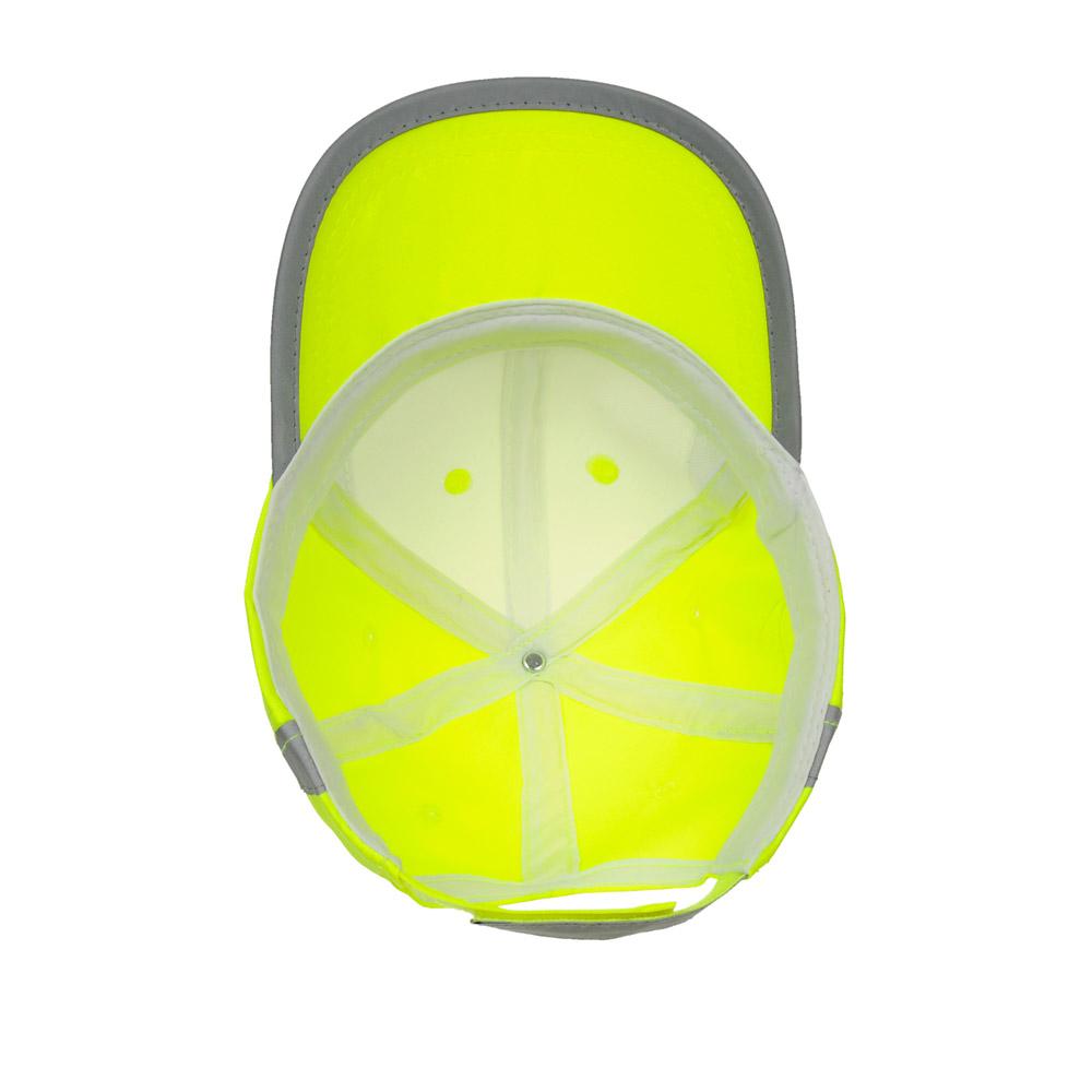 Żółta czapka odblaskowa MIKI dla dzieci - zdjęcie od spodu