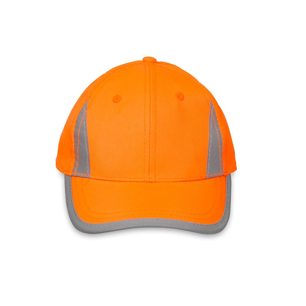 Pomarańczowa czapka odblaskowa MIKI dla dzieci - przód