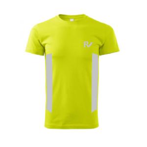 Żółta koszulka odblaskowa męska - RUN - przód