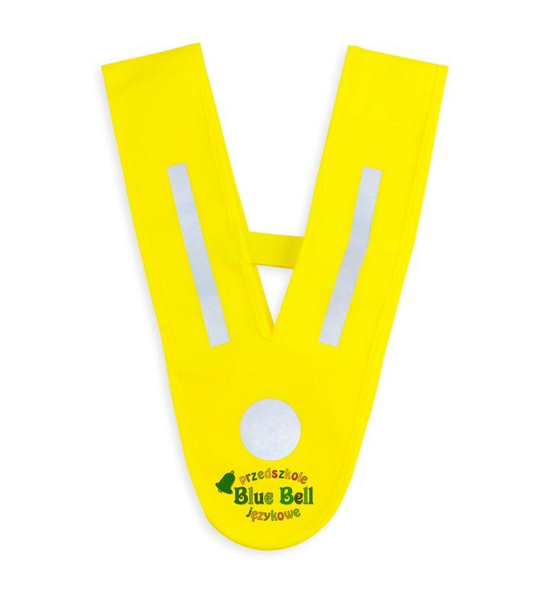 Szelka odblaskowa V-vest uniwersalna - żółta - przykład nadruku