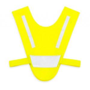 Żółta mini-szelka odblaskowa dla dzieci 2-5 lat - przód
