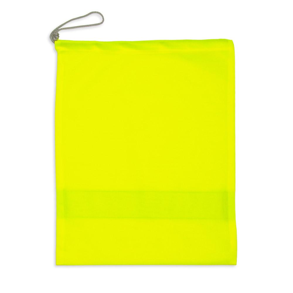 Żółty worek odblaskowy na strój - tył