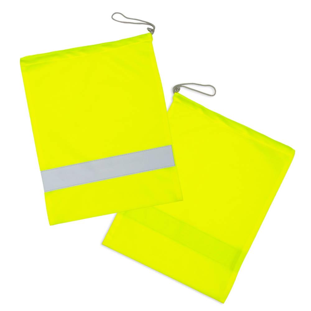 Żółte worki odblaskowe na strój