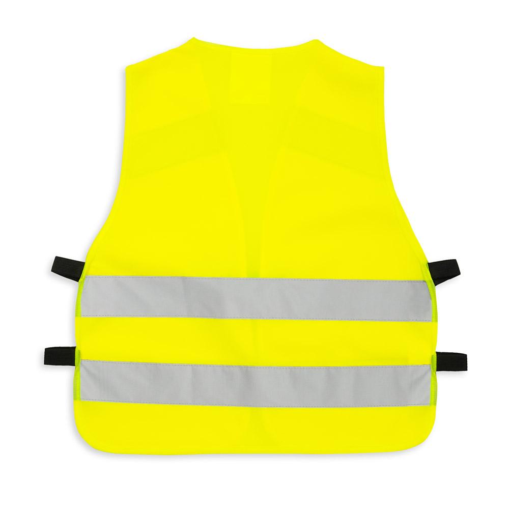 Żółta kamizelka odblaskowa z klipem UU204 - tył