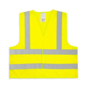 Żółta kamizelka odblaskowa dla dorosłych - 3 pasy - przód