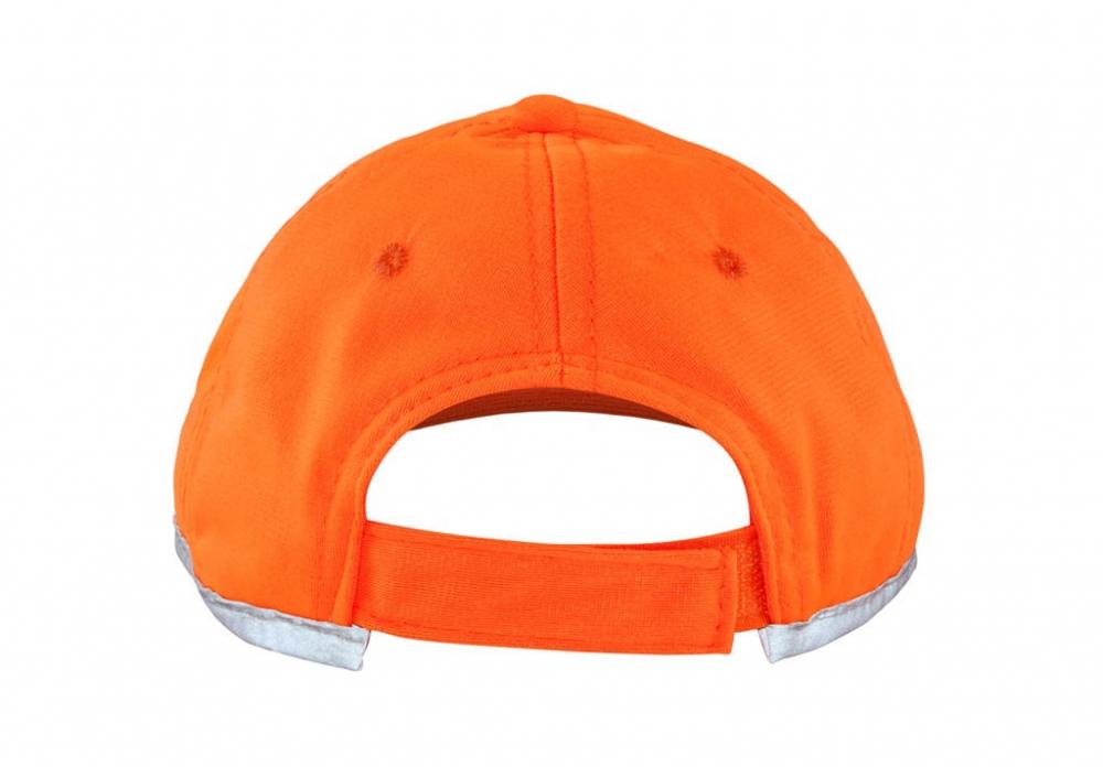 Pomarańczowa czapka odblaskowa dla dzieci - tył