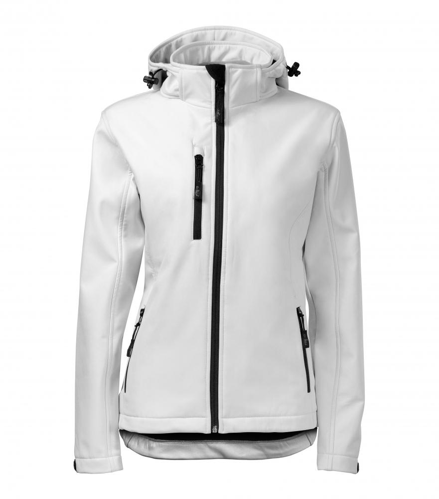 Biała kurtka softshell Performance damska - przód