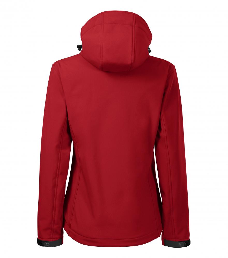 Czerwona kurtka softshell Performance damska - tył