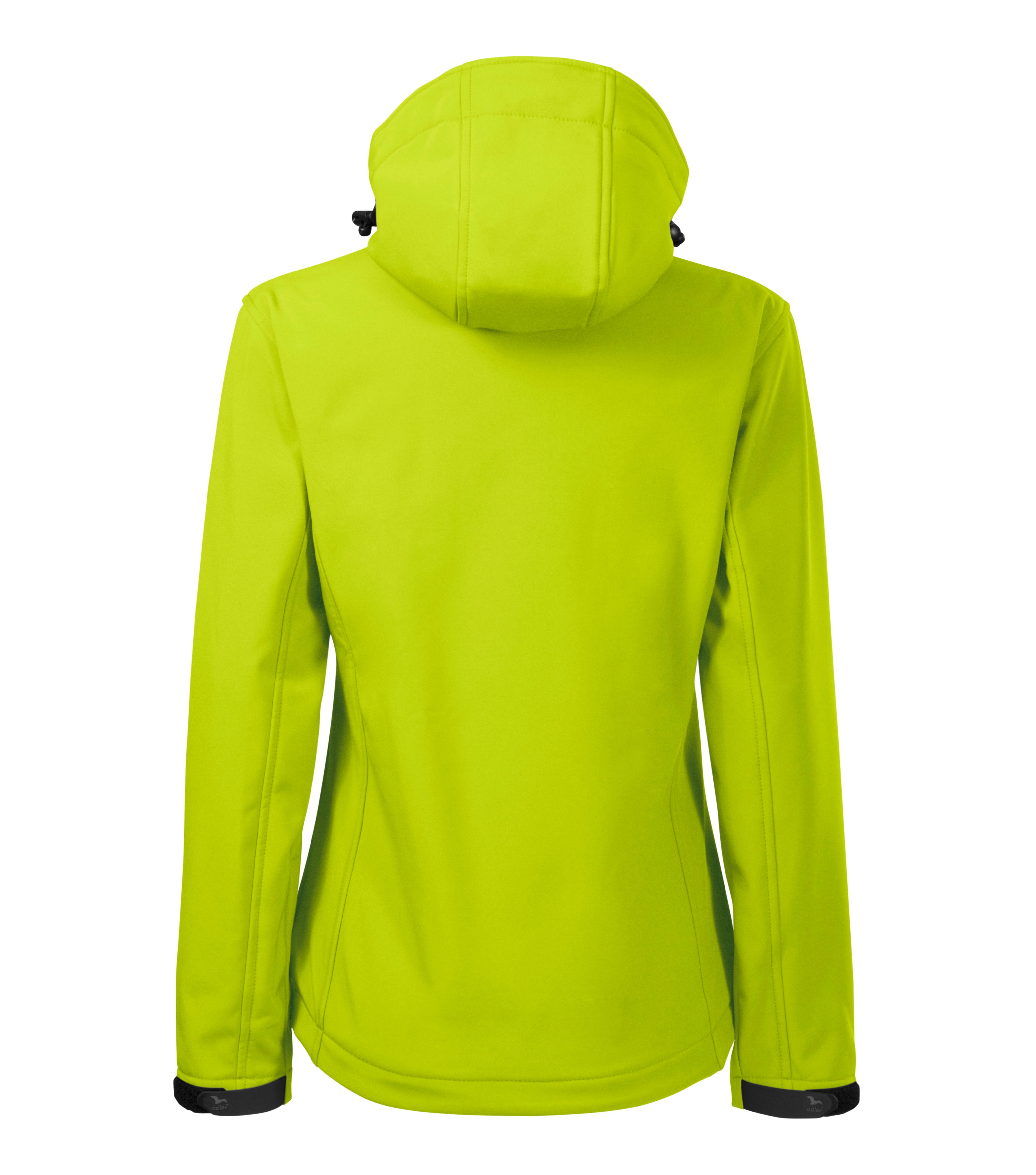 Limonkowa kurtka softshell Performance damska - tył