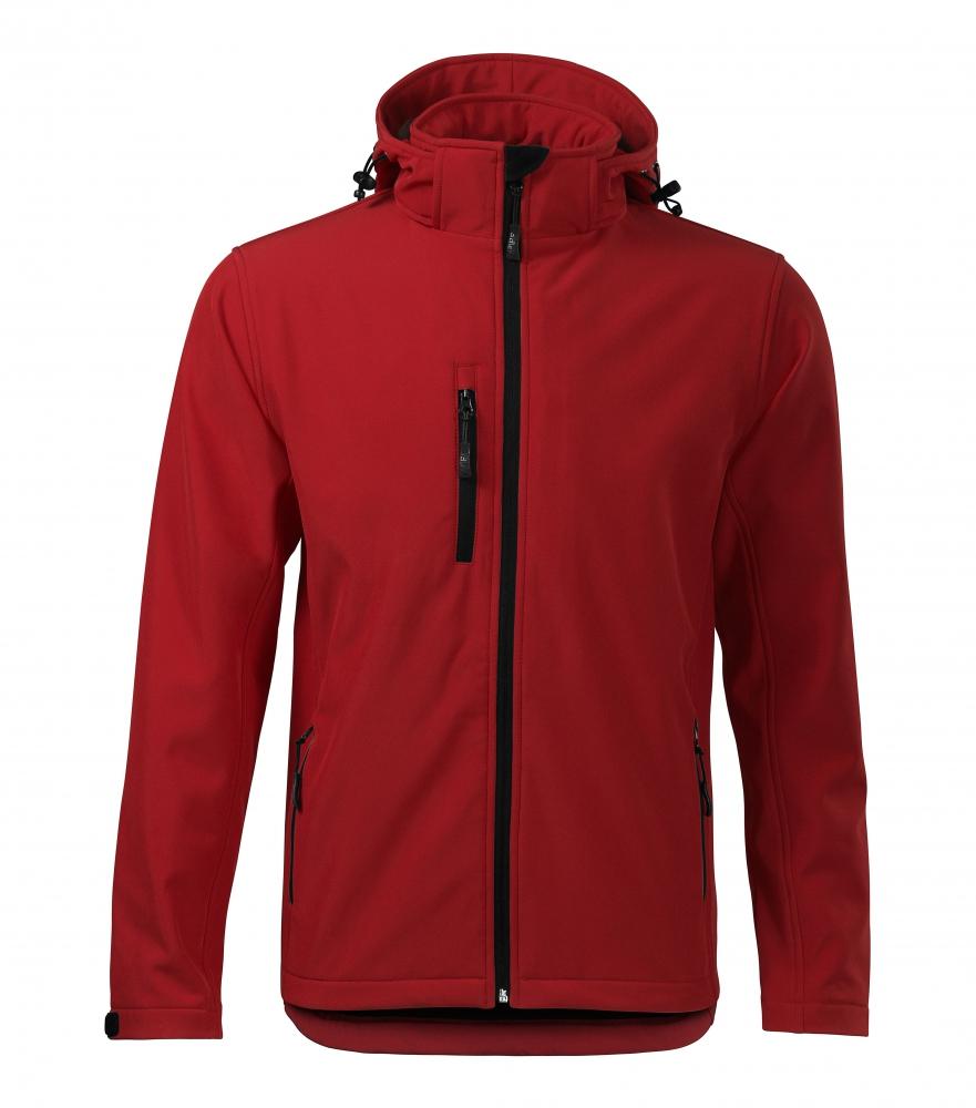 Czerwona kurtka softshell Performance męska - przód