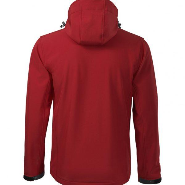 Czerwona kurtka softshell Performance męska - tył