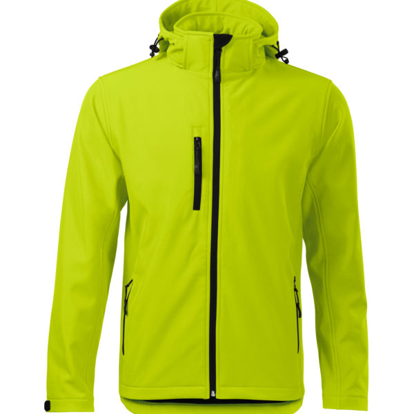 Limonkowa kurtka softshell Performance męska - przód