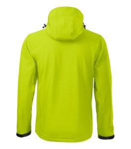 Limonkowa kurtka softshell Performance męska - tył