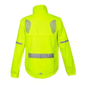 Żółta kurtka odblaskowa dla aktywnych Reflective Wings 3M - tył