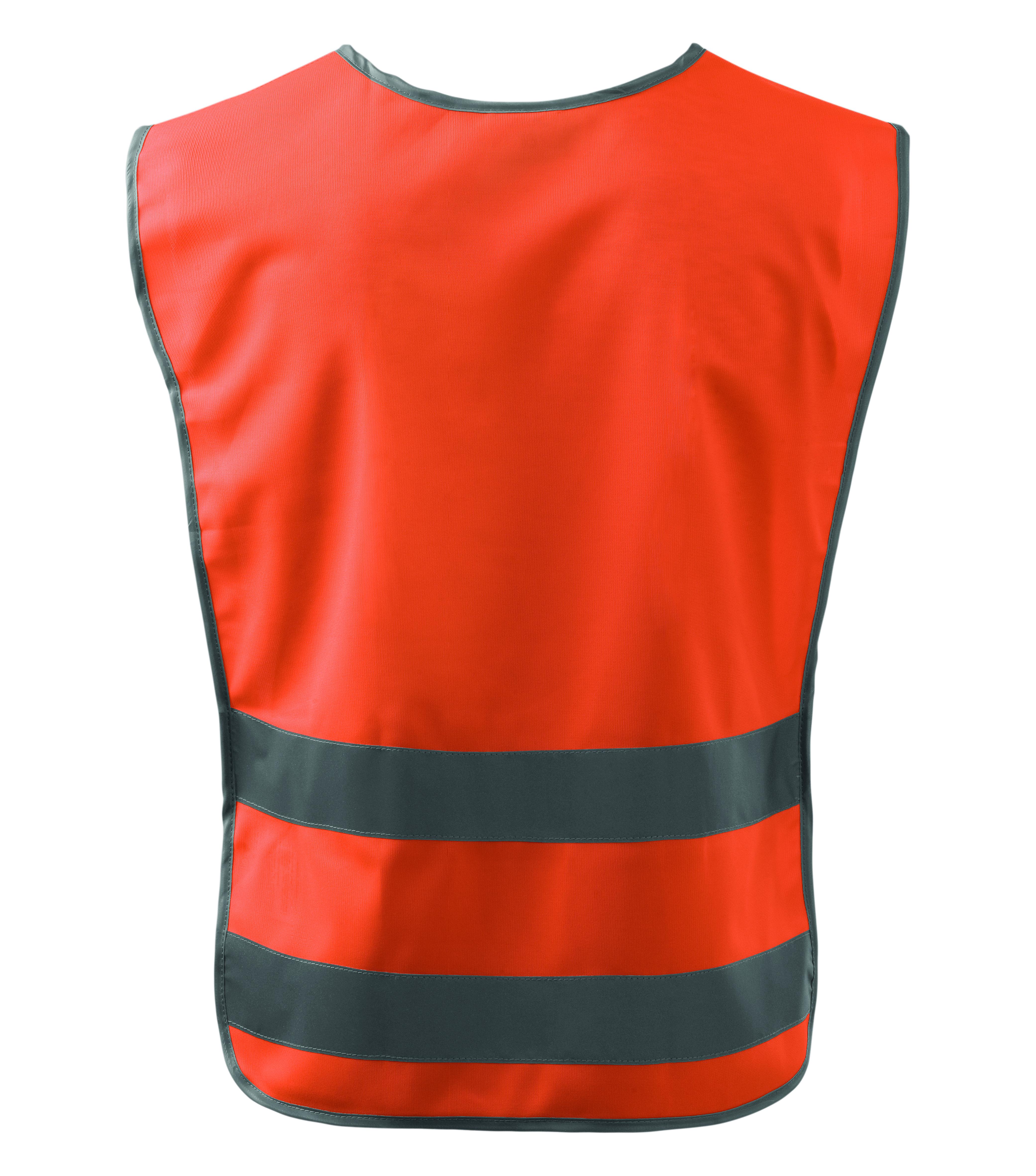 Pomarańczowa kamizelka odblaskowa Classic Safety Vest - tył