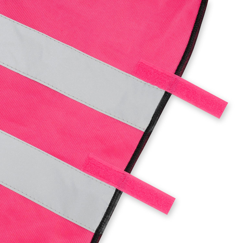 Kamizelka odblaskowa wizualizacyjna pod nadruk - różowa - mocowana na rzep