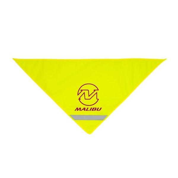 Żółta chusta odblaskowa - przykład nadruku