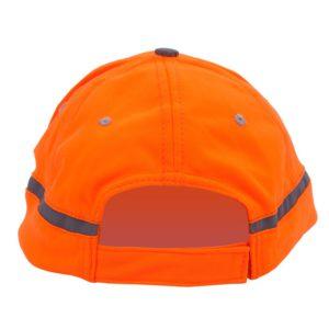 Pomarańczowa czapka odblaskowa dla dorosłych - tył