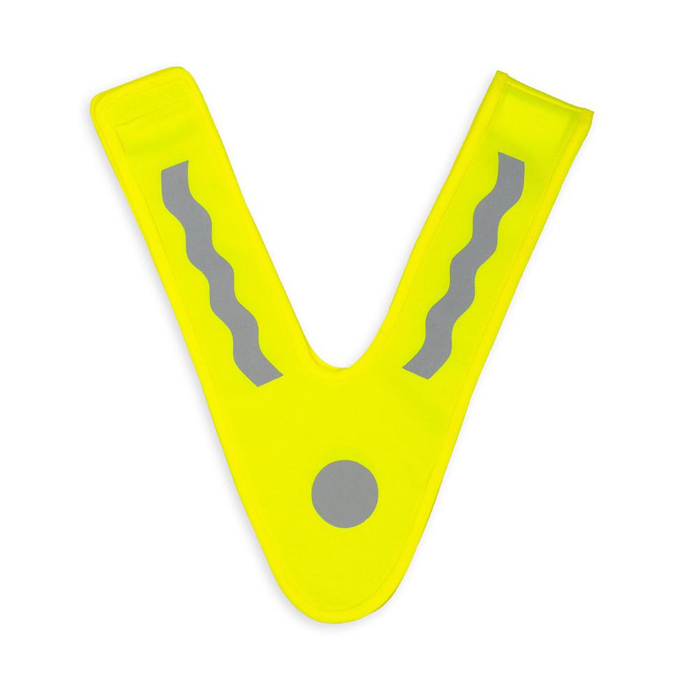 Żółta szelka odblaskowa dla dzieci - Elephant 3M - przód