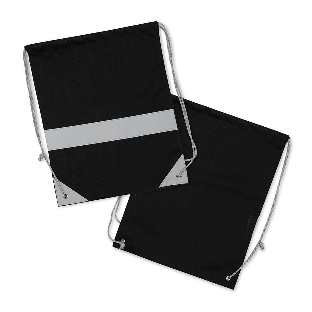 Czarne worki odblaskowe na plecy - Premium