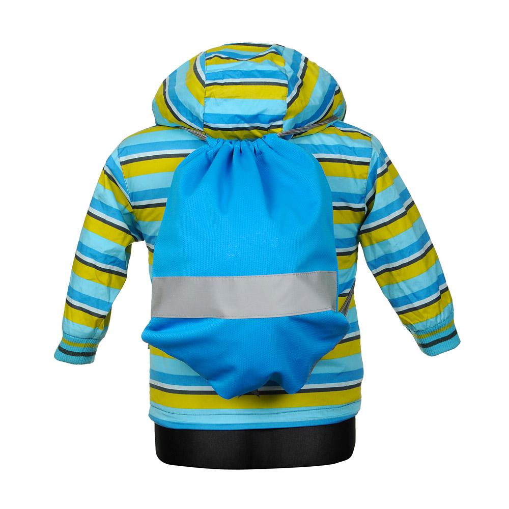 Niebieski worek odblaskowy na plecy - Premium - na manekinie