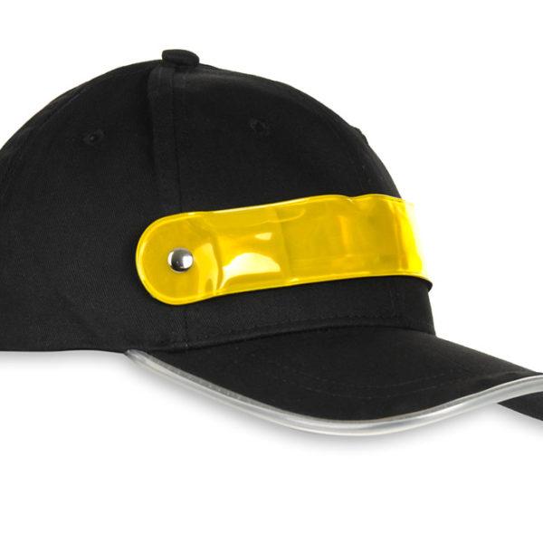 Czapka baseballówka z żółtym LED wokół daszka