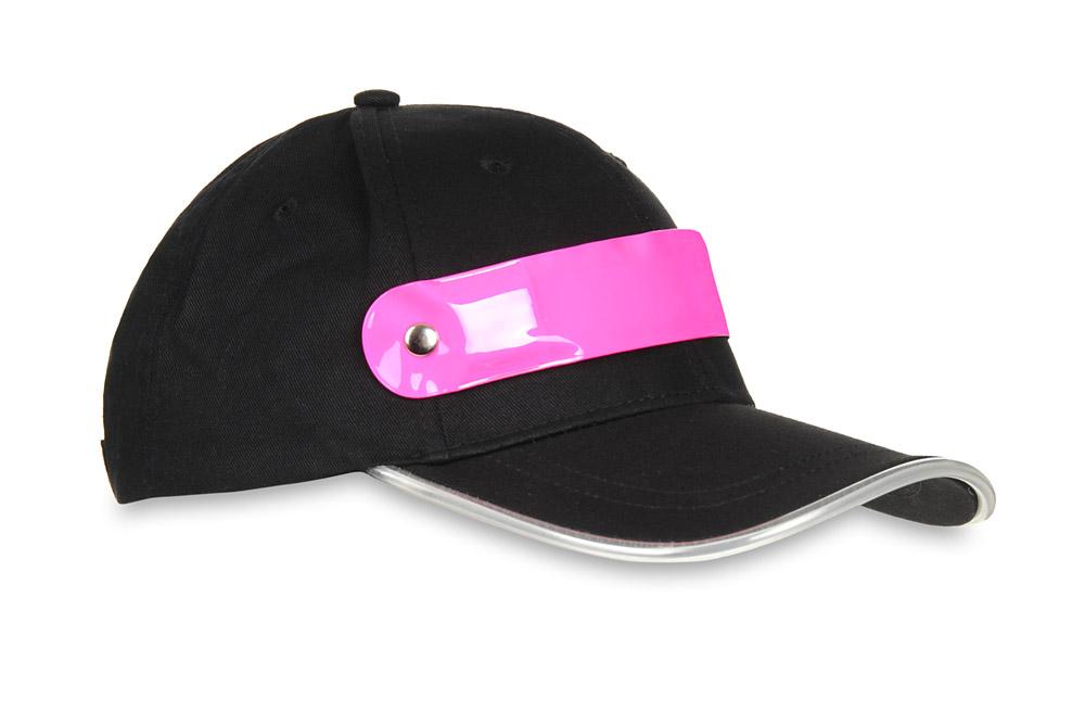 Czapka baseballówka z różowym LED wokół daszka
