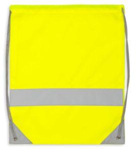 Żółty worek odblaskowy na plecy - przód