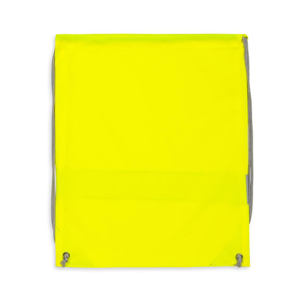 Żółty worek odblaskowy na plecy - tył