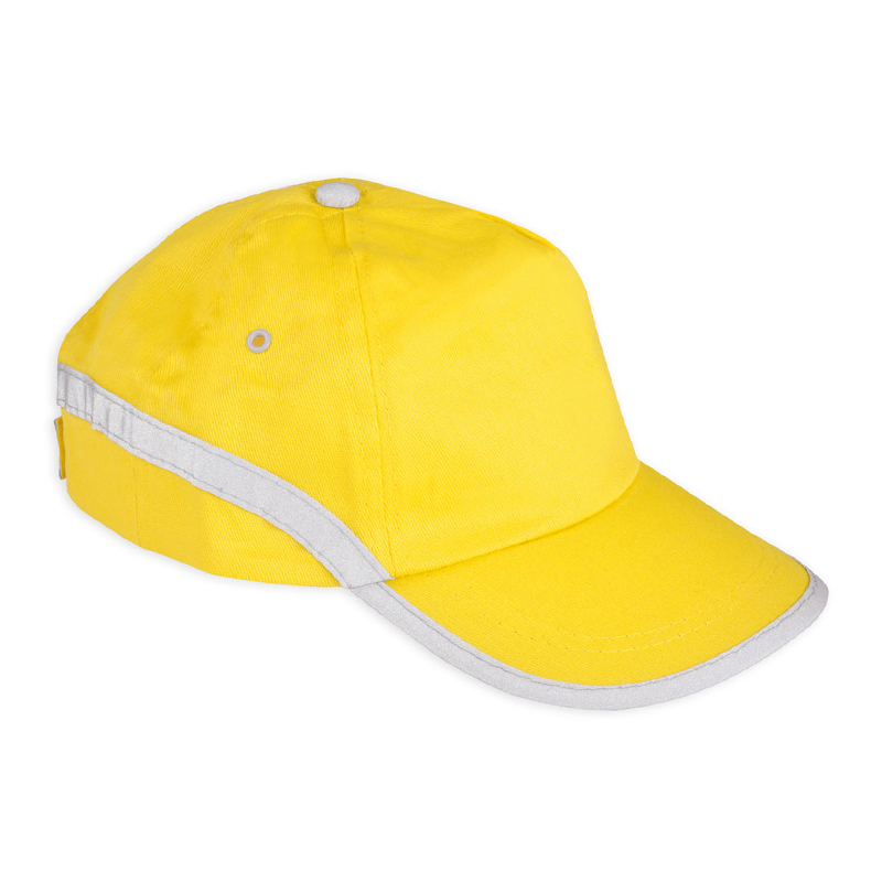 Żółta czapka odblaskowa dla dorosłych