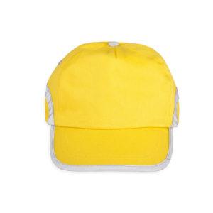 Żółta czapka odblaskowa dla dorosłych - przód