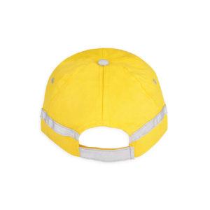 Żółta czapka odblaskowa dla dorosłych - tył