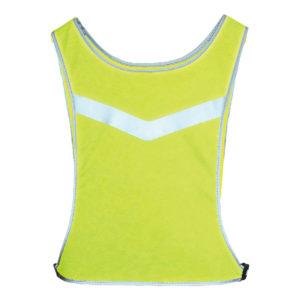 Żółta, sportowa, regulowana kamizelka odblaskowa - Fast 3M - tył