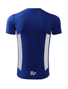 Niebieski t-shirt odblaskowy męski - RUN - tył