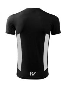 Czarny t-shirt odblaskowy męski - RUN - tył
