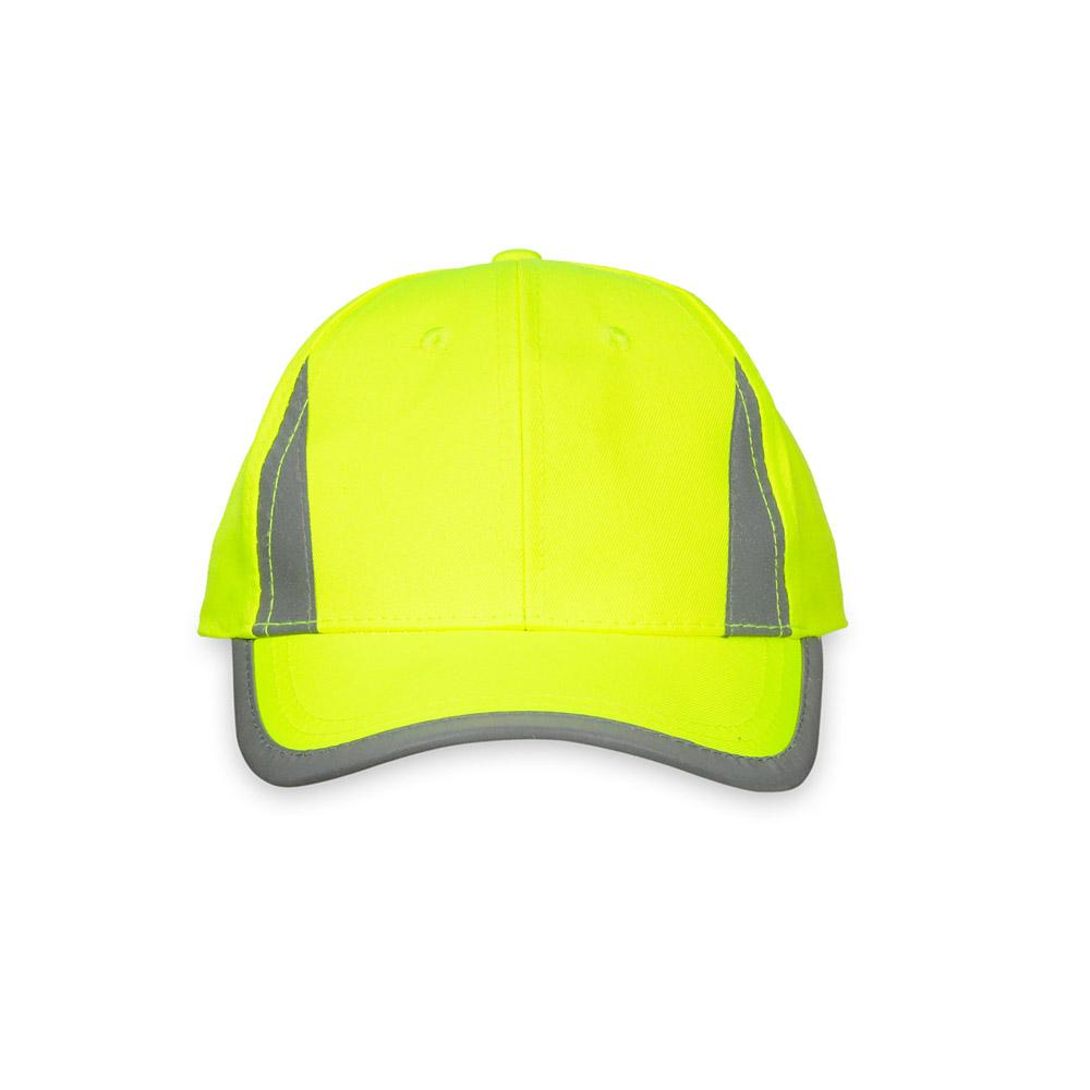 Żółta czapka odblaskowa MIKI dla dzieci - przód