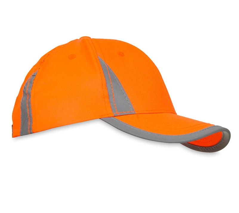 Pomarańczowa czapka odblaskowa MIKI dla dzieci