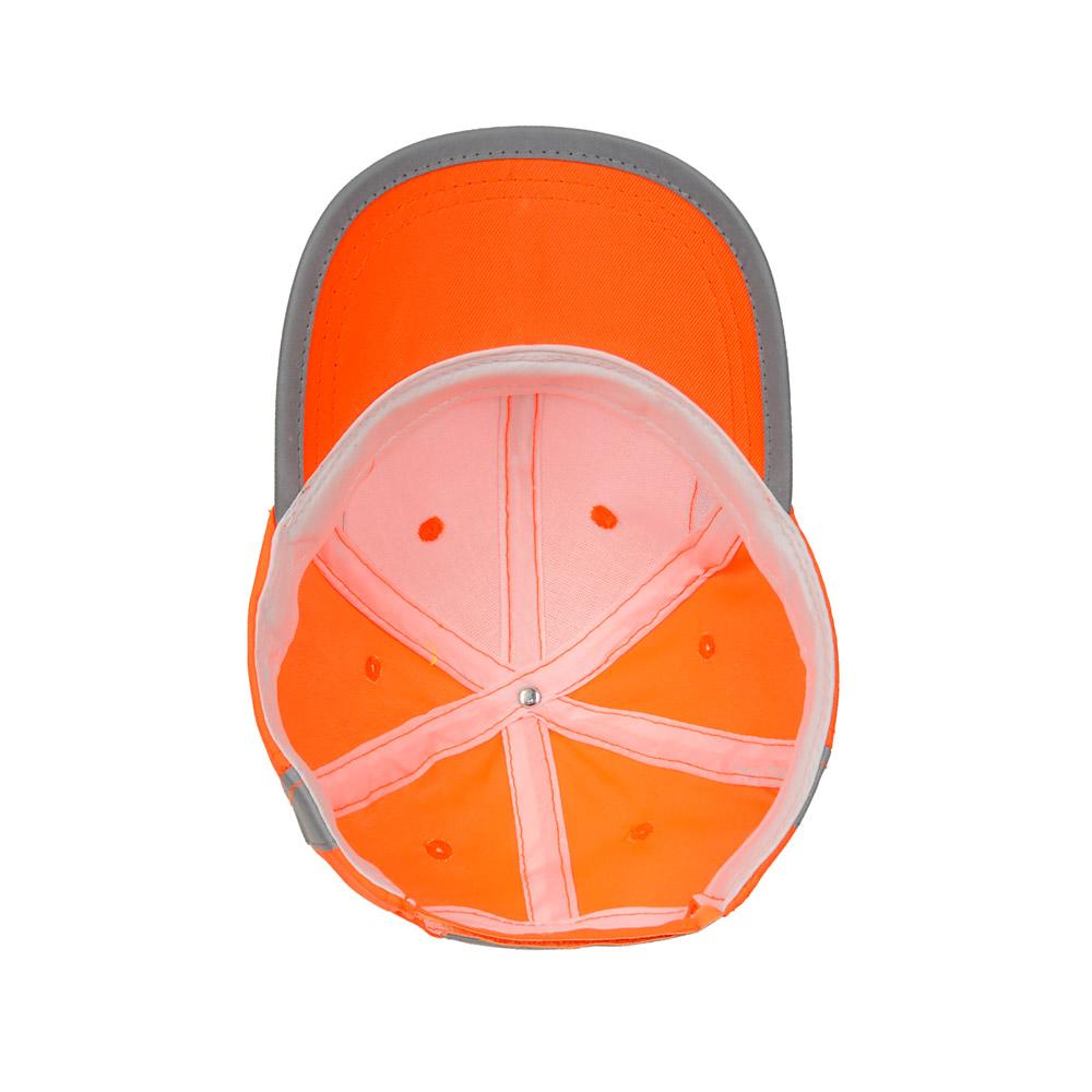 Pomarańczowa czapka odblaskowa MIKI dla dzieci - zdjęcie od spodu