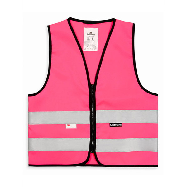 Kamizelka odblaskowa dla dzieci 3M - różowa - przód