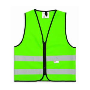 Kamizelka odblaskowa dla dzieci 3M - zielona - przód